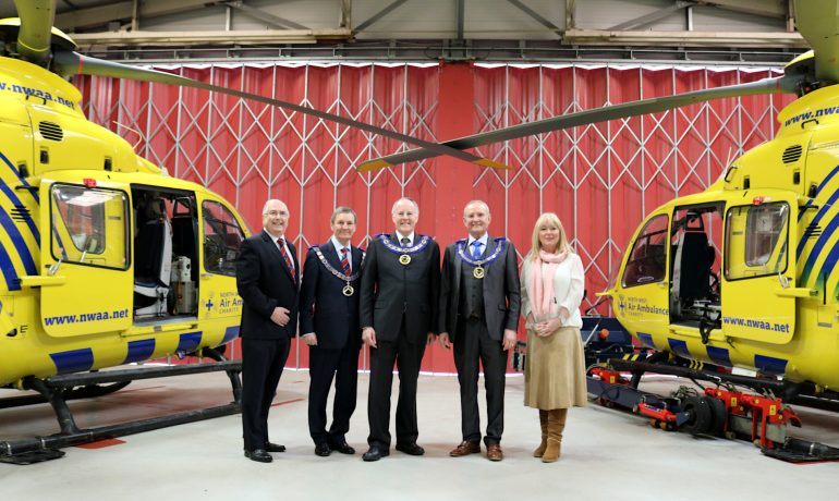 Provinces of Cheshire, East & West Lancashire come together for £12,000 North West Air Ambulance MCF Grant