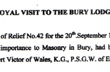 Royal Visit to Bury Lodges in 1888