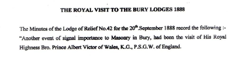 Royal Visit to Bury Lodges in 1888