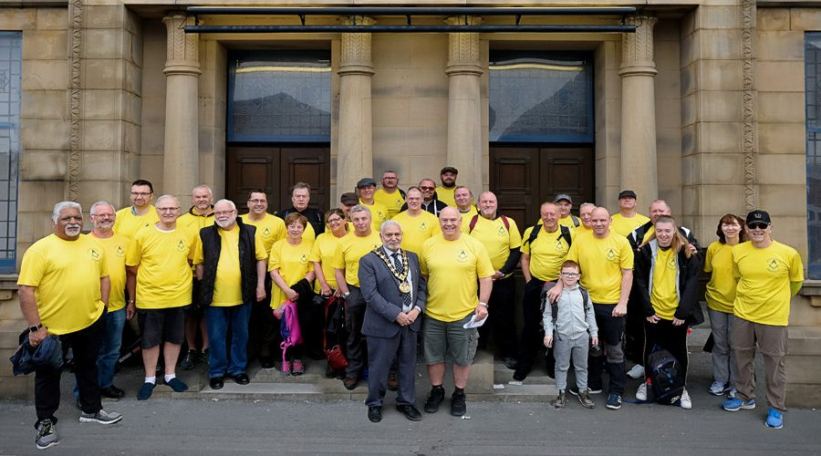 Freemasons Walk the District