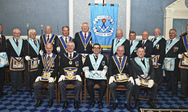 Milton Lodge – The Dedication of a new Lodge Banner