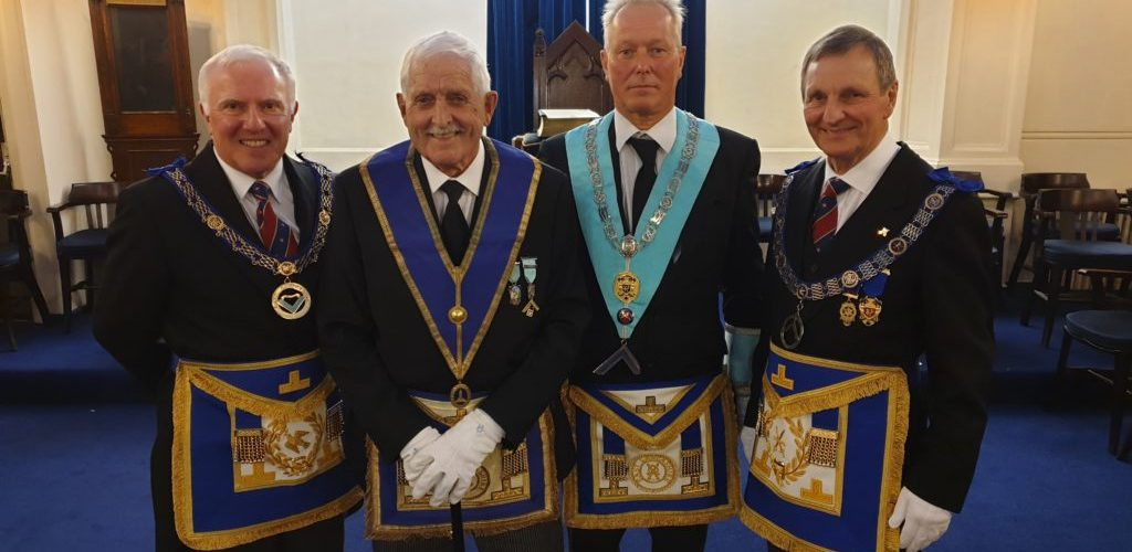 Celebrating WBro Peter Walker on his 50th Masonic anniversary