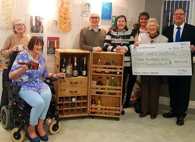 Presentation Of Cheque To East Lancs. Hospice For Drinks Trolley