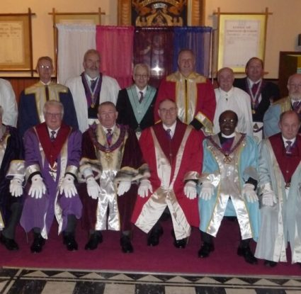 ELRADT perform the Ceremony of Passing the Veils at a Joint Convocation hosted by Hutchinson Chapter 381
