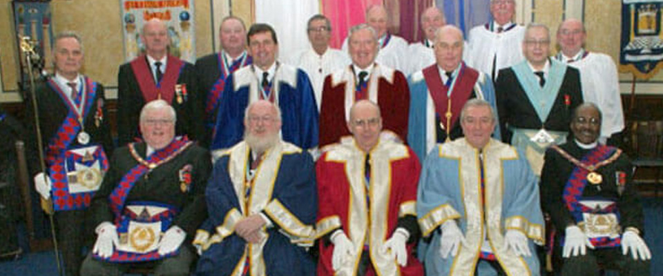 ELRADT perform the Ceremony of Passing the Veils at Provincial Grand Steward's Chapter No 8408