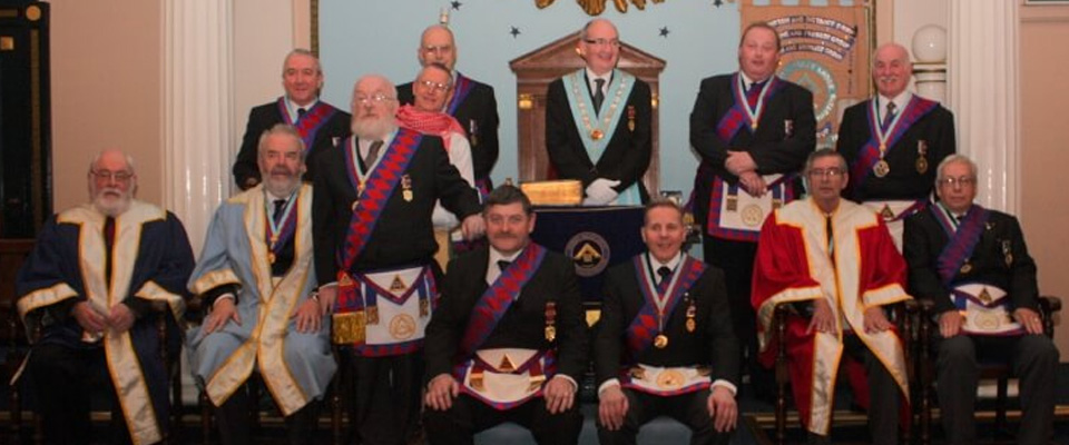 The East Lancashire Royal Arch Presentation Team (ELRADT) Visit to Mersey Valley Lodge of Installed Masters No 9057