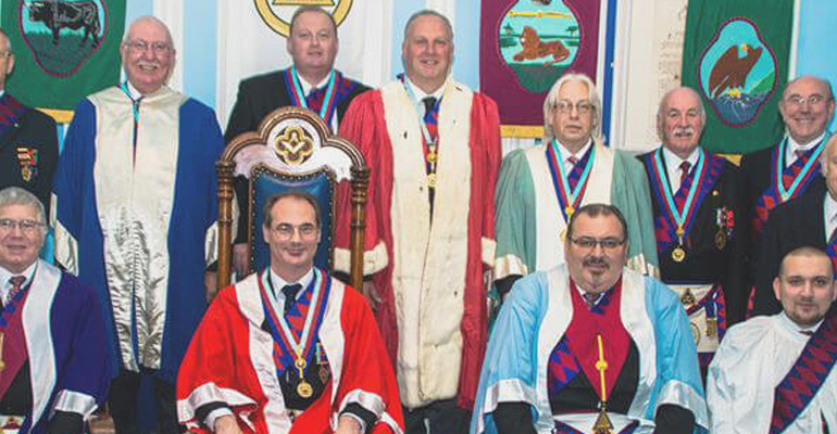 ELRADT carry out an Exaltation for Prince Alfred Chapter No 1218