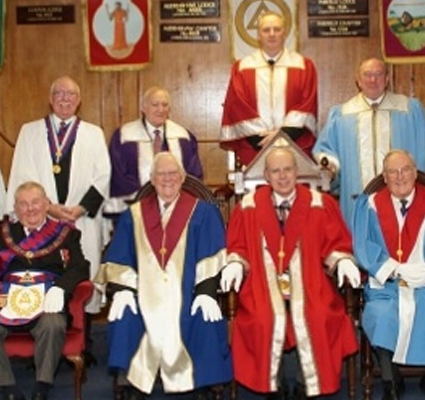 "ELRADT perform the ""Ceremony of the Veils"" at Egerton Chapter No 1030"