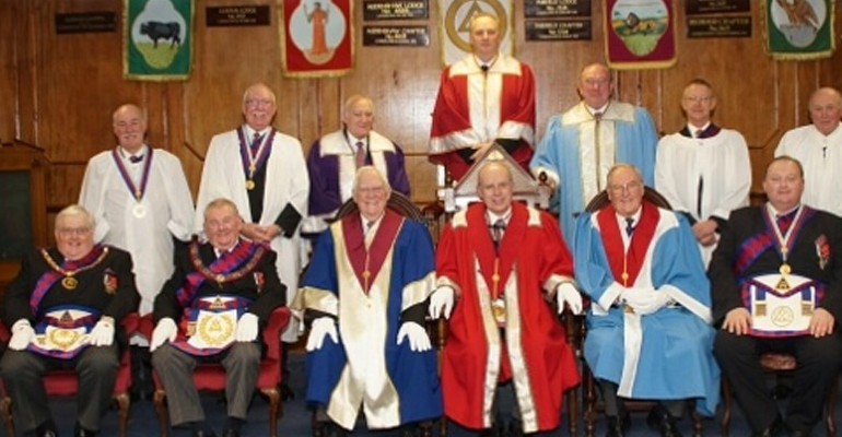 """ELRADT perform the """"Ceremony of the Veils"""" at Egerton Chapter No 1030"""