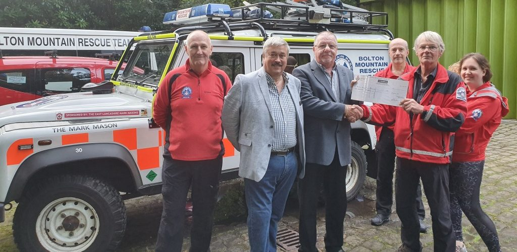 Bolton Mountain Rescue keeping toasty after £1,000 grant from East Lancashire Freemasons
