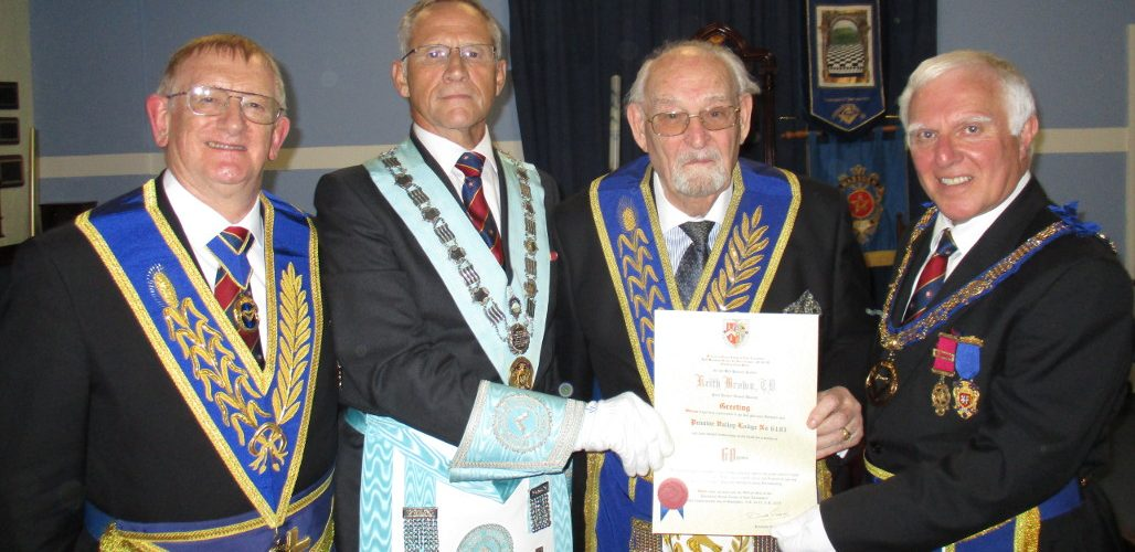 60th Anniversary celebration of WBro Keith Brown, TD, Past Junior Grand Deacon