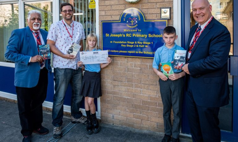 St Joseph's RC Primary School Receive a Donation from ELMC.