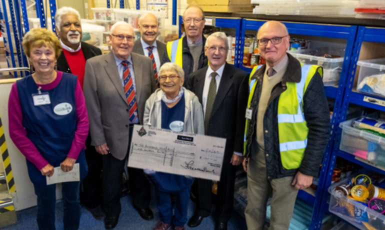 The Lodge of Harmony No.298 in Rochdale,   Donate to the Rochdale Food Bank.