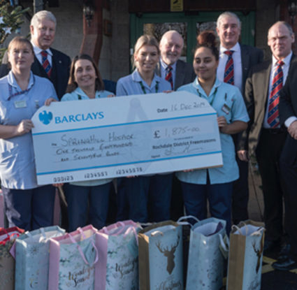 Rochdale Freemasons Provide Hospice Gifts 16th December 2019