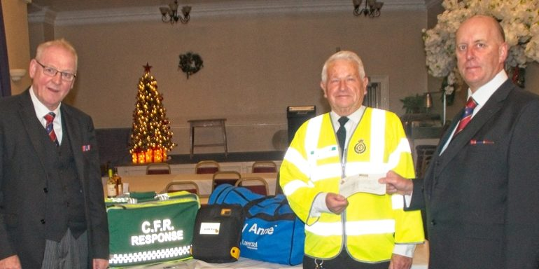 Tameside's Community First  Responders receive assistance from the  East Lancashire Masonic Charity.