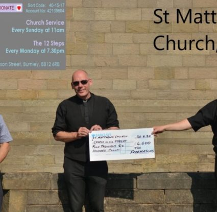 Burnley and Pendle Freemasons helping the Church on the Street