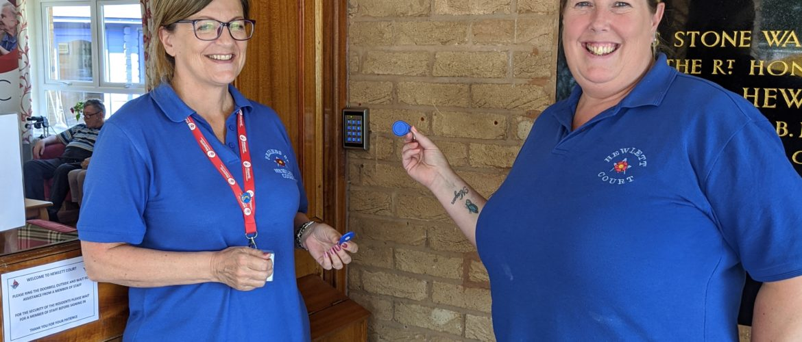 East Ribble District donates door access at Hewlett Court