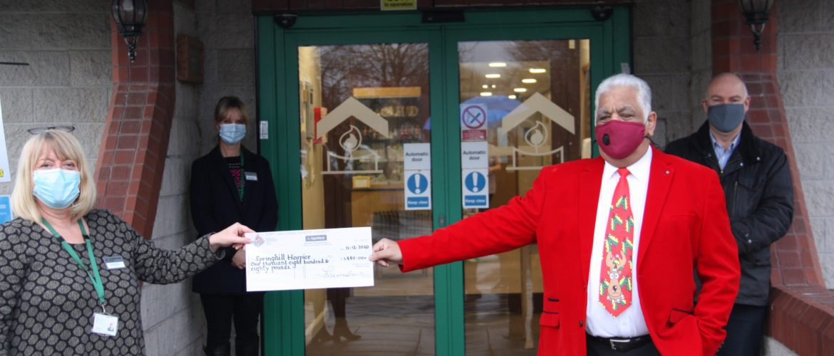 Freemasons Charity in the Community at Springhill Hospice