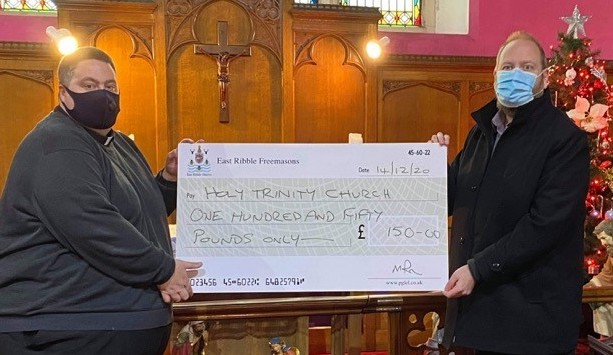 EAST RIBBLE DISTRICT DONATION TO HOLY TRINITY CHURCH